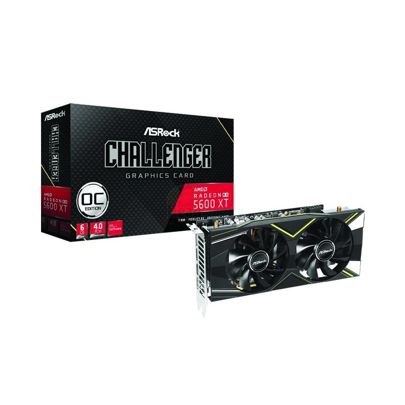 6GB GDDR6 AMD RX5600XT ASROCK CHALLENGER D OC