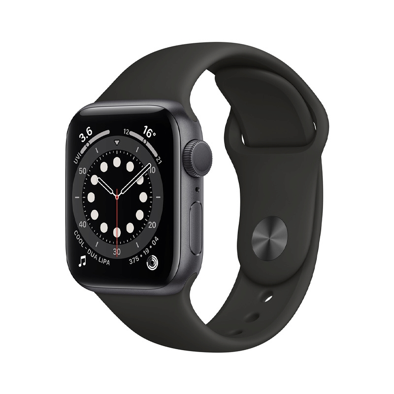 Apple Watch Series 6 (40mm/ Space Gray Aluminium Case/ Black Sport Band)