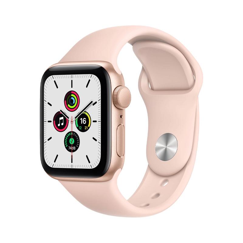 Apple Watch SE (40mm/ Gold Aluminium Case/ Pink Sand Sport Band)