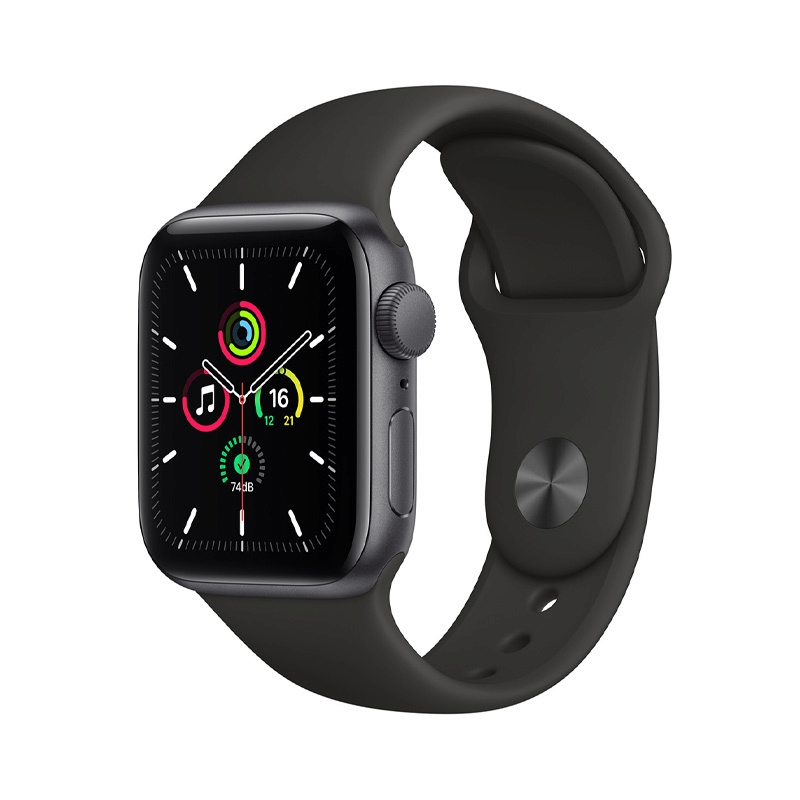 Apple Watch SE (40mm/ Space Gray Aluminium Case/ Black Sport Band)
